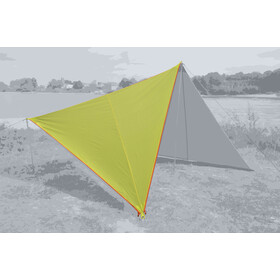 Bent Canvas Plain Tarp Pojedynczy, lime punch/zipper orange